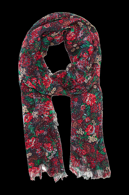 Stort, mønstret tørklæde Maison Scotch Accessories til Kvinder i Sortmønstret