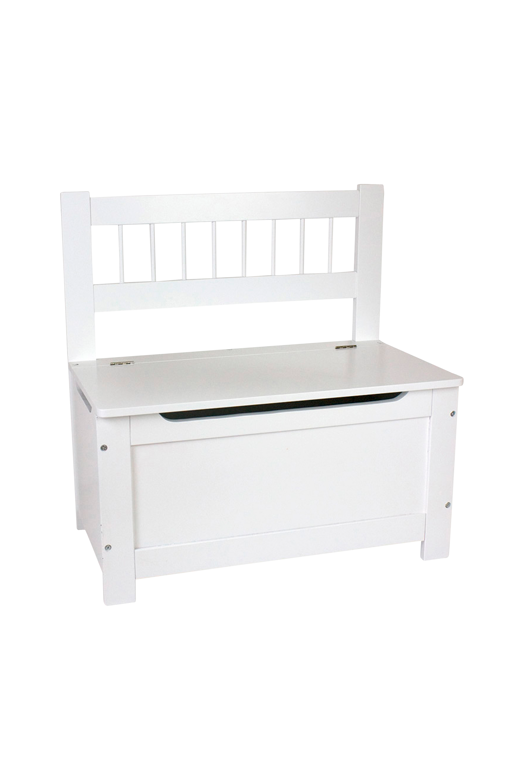 Sohva, jossa säilytystila, valkoinen
