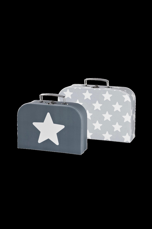 Kuffert Star 2-Sæt Grå Kids Concept Accessories til Børn i