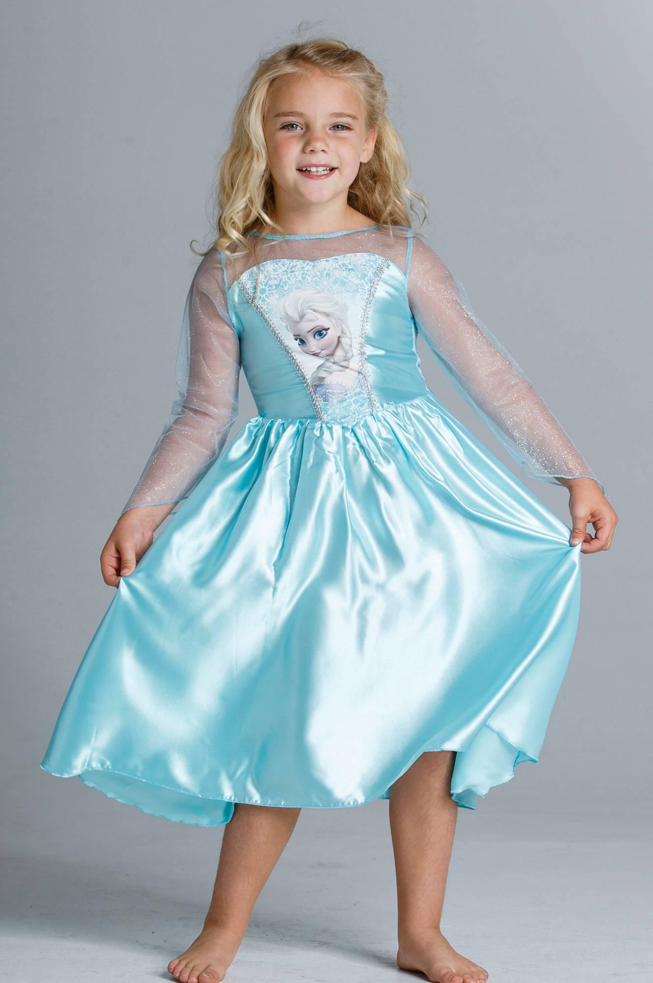 Disney Frozen Frost klänning Elsa, strl 104 Barn Ellos.se