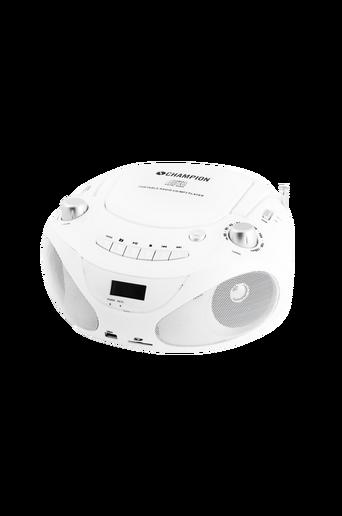 CD-soitin/radio/MP3/USB, valkoinen ABB200W