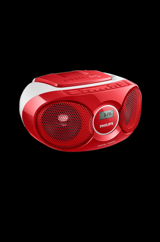 CD Soundmachine -soitin AZ215, punainen