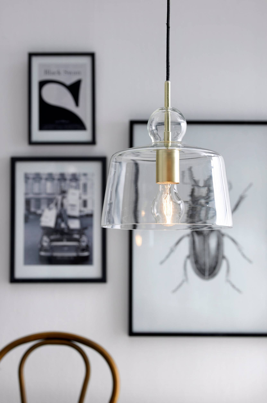 Loftlampe Vidar Ellos Loftlamper til Boligen i Mässing/glas