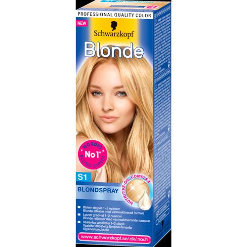 blond hårfarve spray