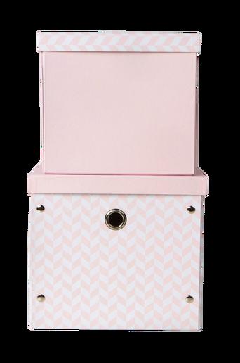 Säilytyslaatikot, 2/pakk. roosa