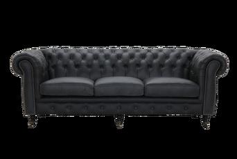 Sohva Cambridge vintagenahkaa, 3:n istuttava