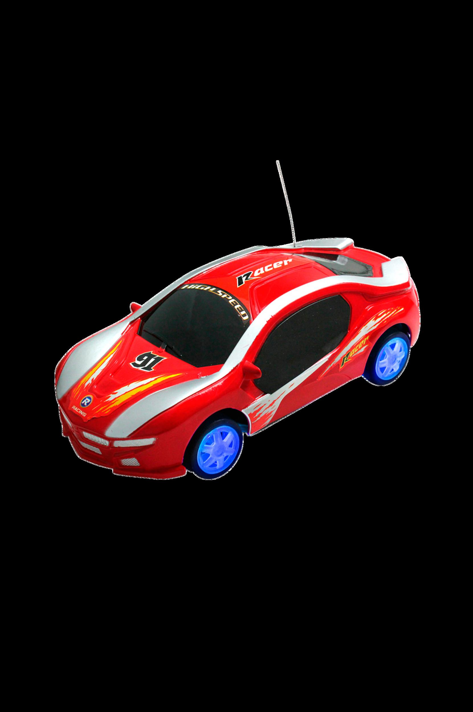 Radio-ohjattava kilpa-auto, punainen, 17 cm