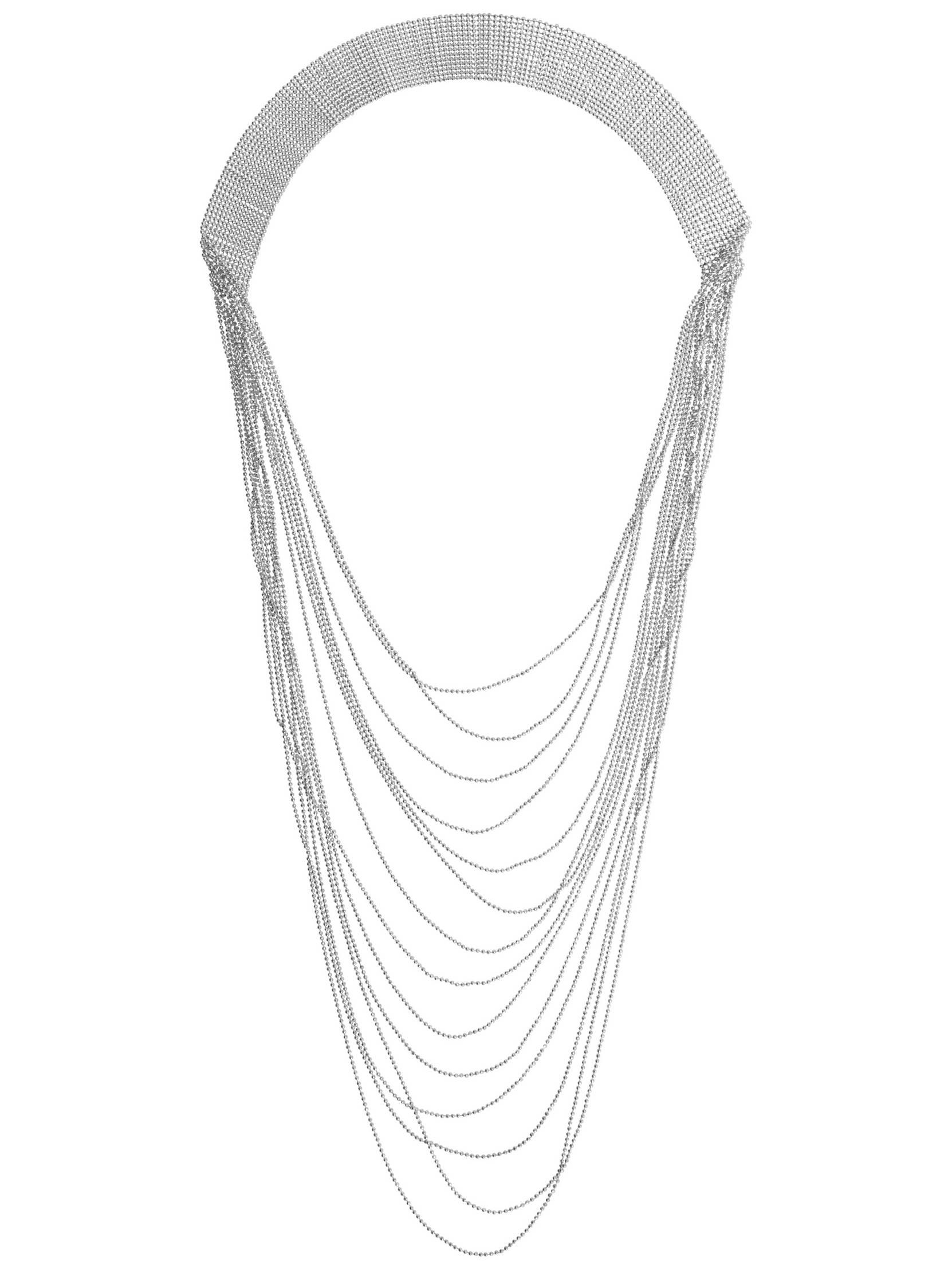 Halskæde Denize pieces Accessories til Kvinder i Sølvfarvet