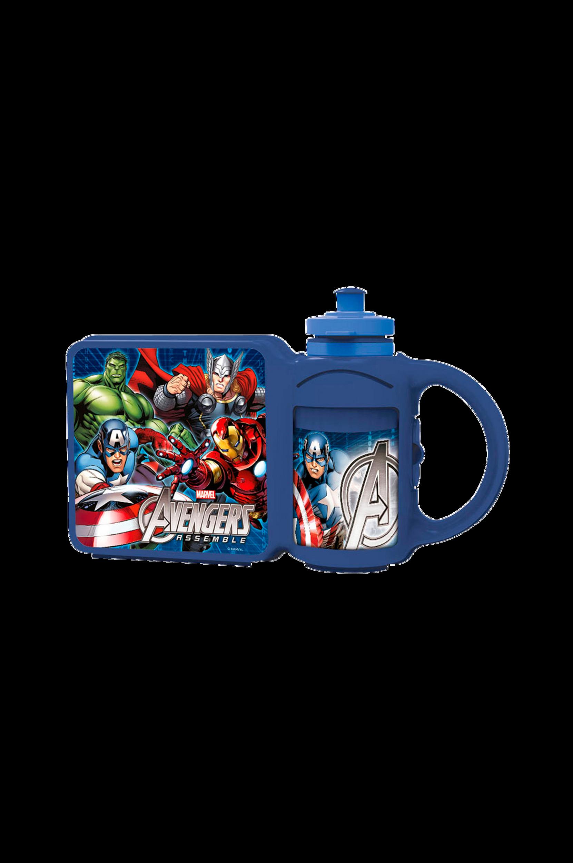 Kombi Flaske+Madkasse Marvel Avengers Rolleleg til Børn i