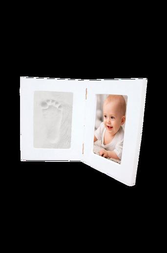 Kehys valokuvalle & käden-/jalanjäljelle, valkoinen