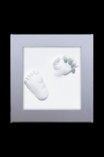 3D Deluxe -kehys käden- ja jalanjäljelle, hopeanvärinen
