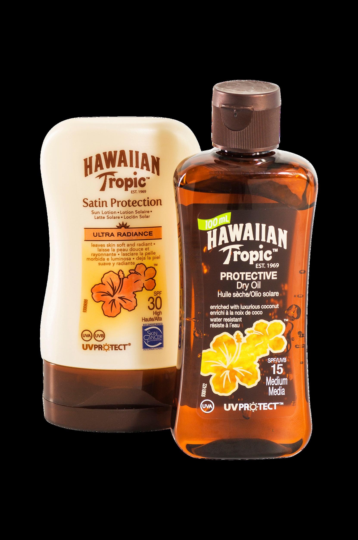 Hawaiian Tropic -aurinkovoiteet, 2 kpl