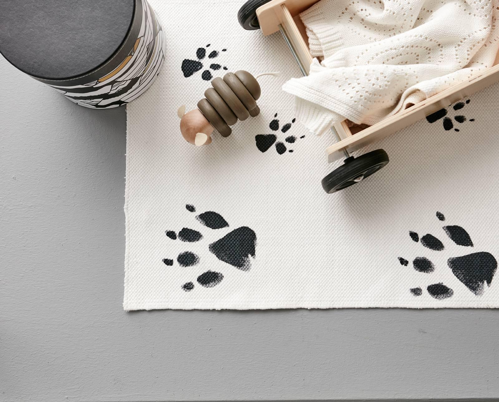 Neo-matto, musta/valkoinen 140x175 cm