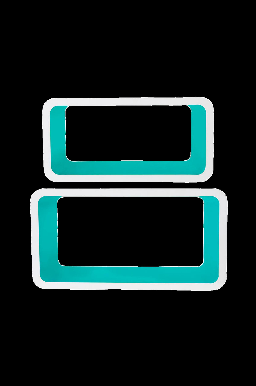 Kuutiohyllyt, 2/pakk. Valkoinen/vedenvihreä
