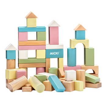 60 Pastell-rakennuspalikkaa