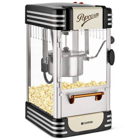 Popcornmaskin Retro Svart
