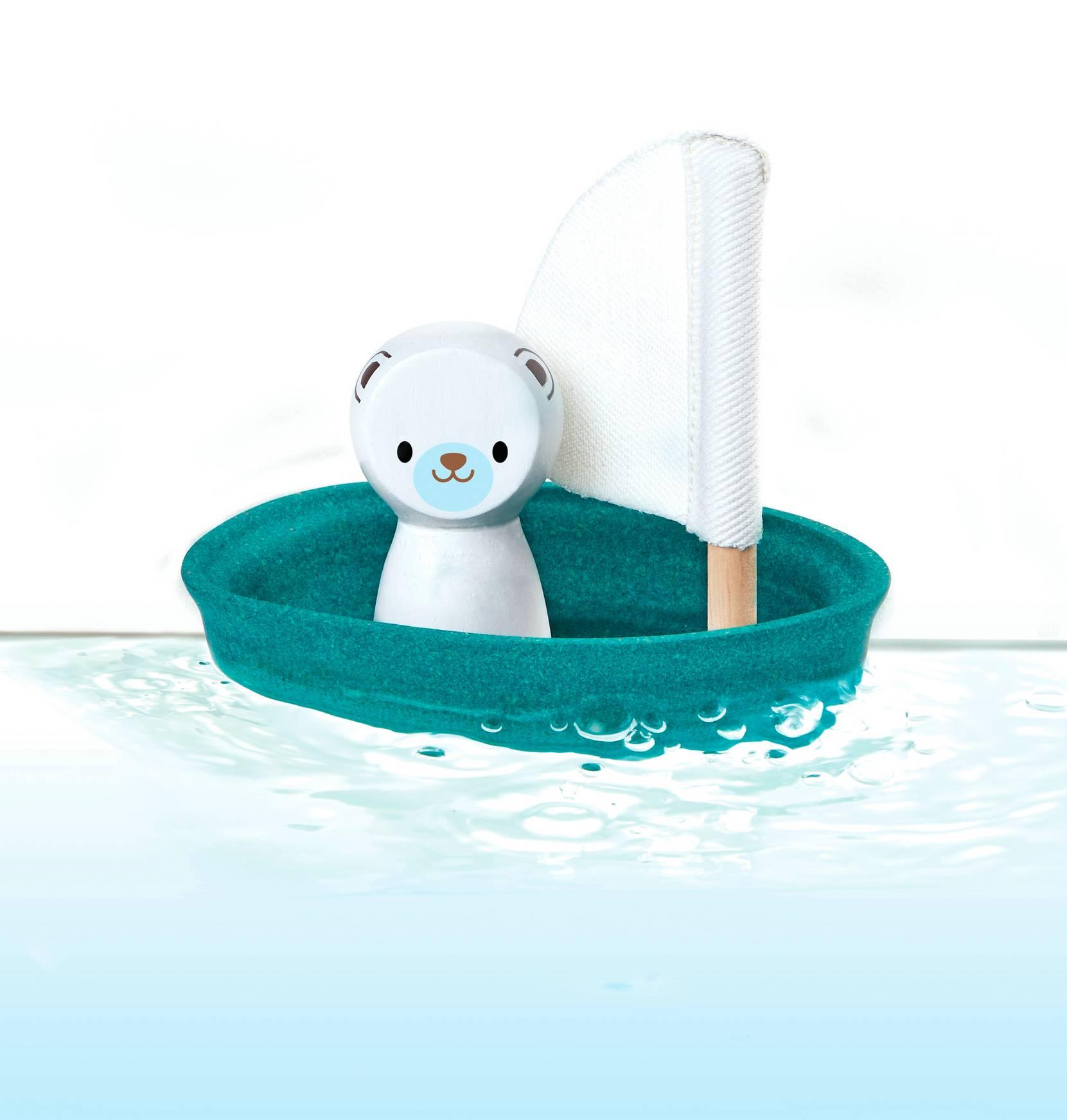 Sailing Boat Polar – Økologisk Trælegetøj PlanToys Pusle & pleje til Børn i