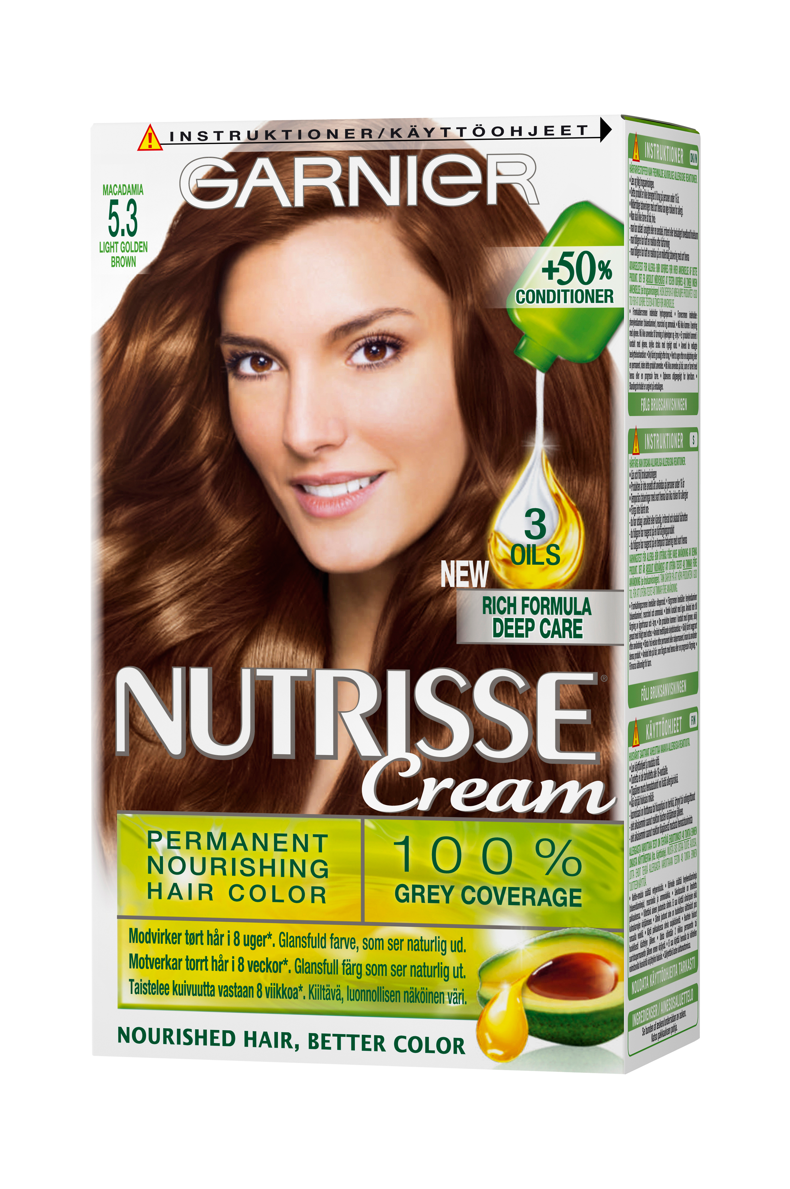 garnier hårfärg ljusbrun