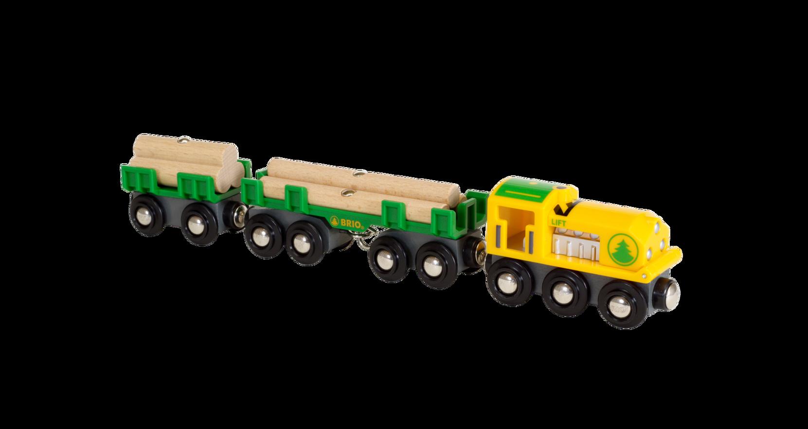 Trætogbane Lokomotiv Med Vogne Og Tømmer Brio Legetøjsbiler & -køretøjer til Børn i