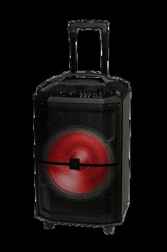 Bluetooth-kaiutin, jossa pyörät