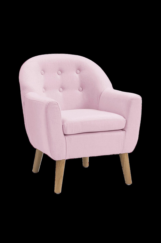 Nojatuoli, vaalea roosa