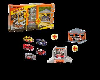 Kilpa-autosetti, jossa 5 autoa