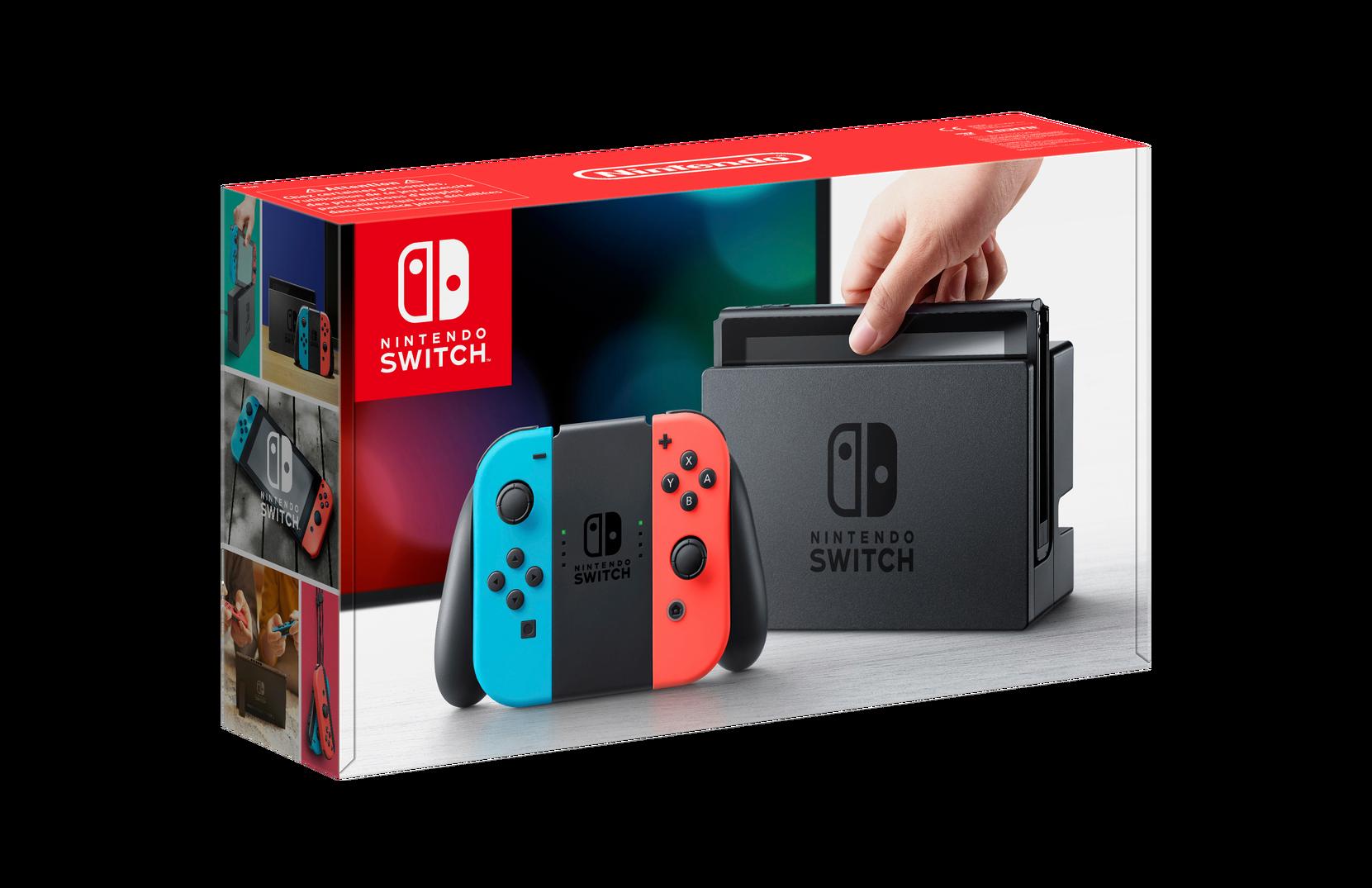 Switch-konsoli, sininen/punainen