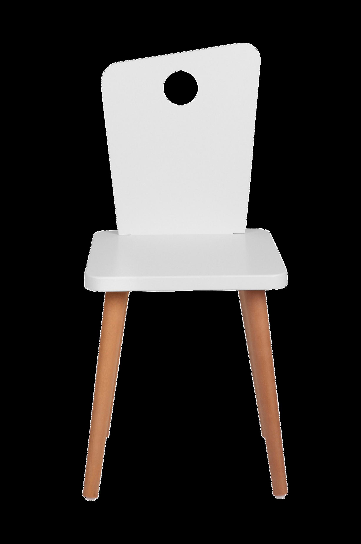 Stol Hvid/Teak Troll Børnemøbler til Børn i