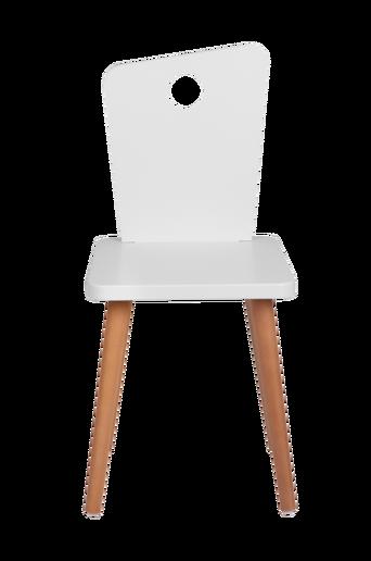 Tuoli, valkoinen/tiikki