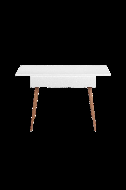 Kirjoituspöytä, valkoinen/tiikki