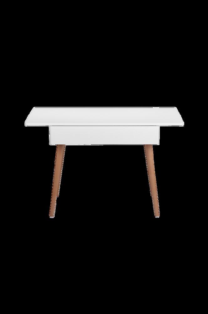 Skrivbord Vit/Teak