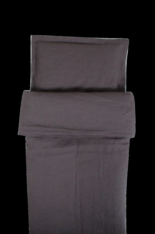 Graphite Grey -pussilakana pinnasänkyyn 100 x 130 cm