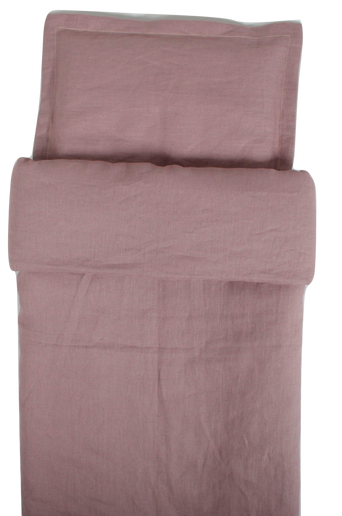 Dusty Pink -pussilakana pinnasänkyyn 100 x 130 cm