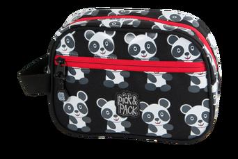 Panda-kosmetiikkalaukku, musta/valkoinen