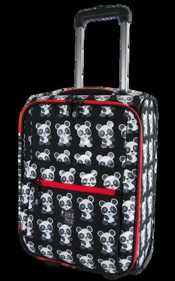 Panda-matkalaukku, musta/valkoinen