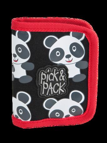 Panda-lompakko, musta/valkoinen