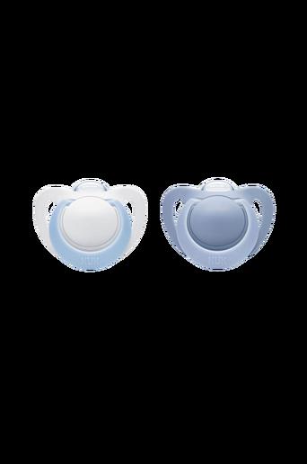 Silikonitutit, 2/pakk. Koko 3, sininen/valkoinen