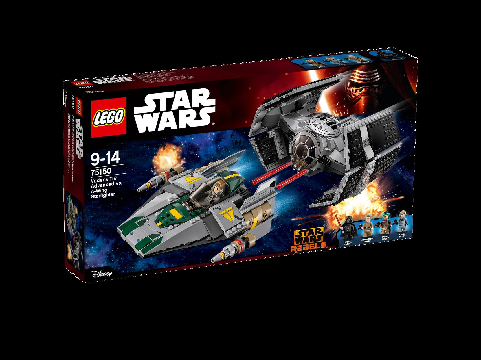 Vaders TIE Advanced mod A-wing Starfighter 75150 LEGO Lego til Børn i 75150
