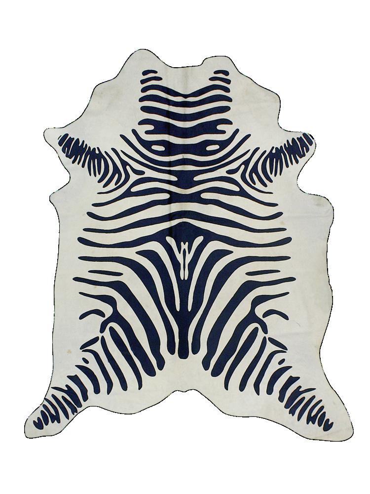 Zebratæppe ca. størrelse 200x220 cm. Ellos Skind & skindtæpper til Boligen i Zebramønstret