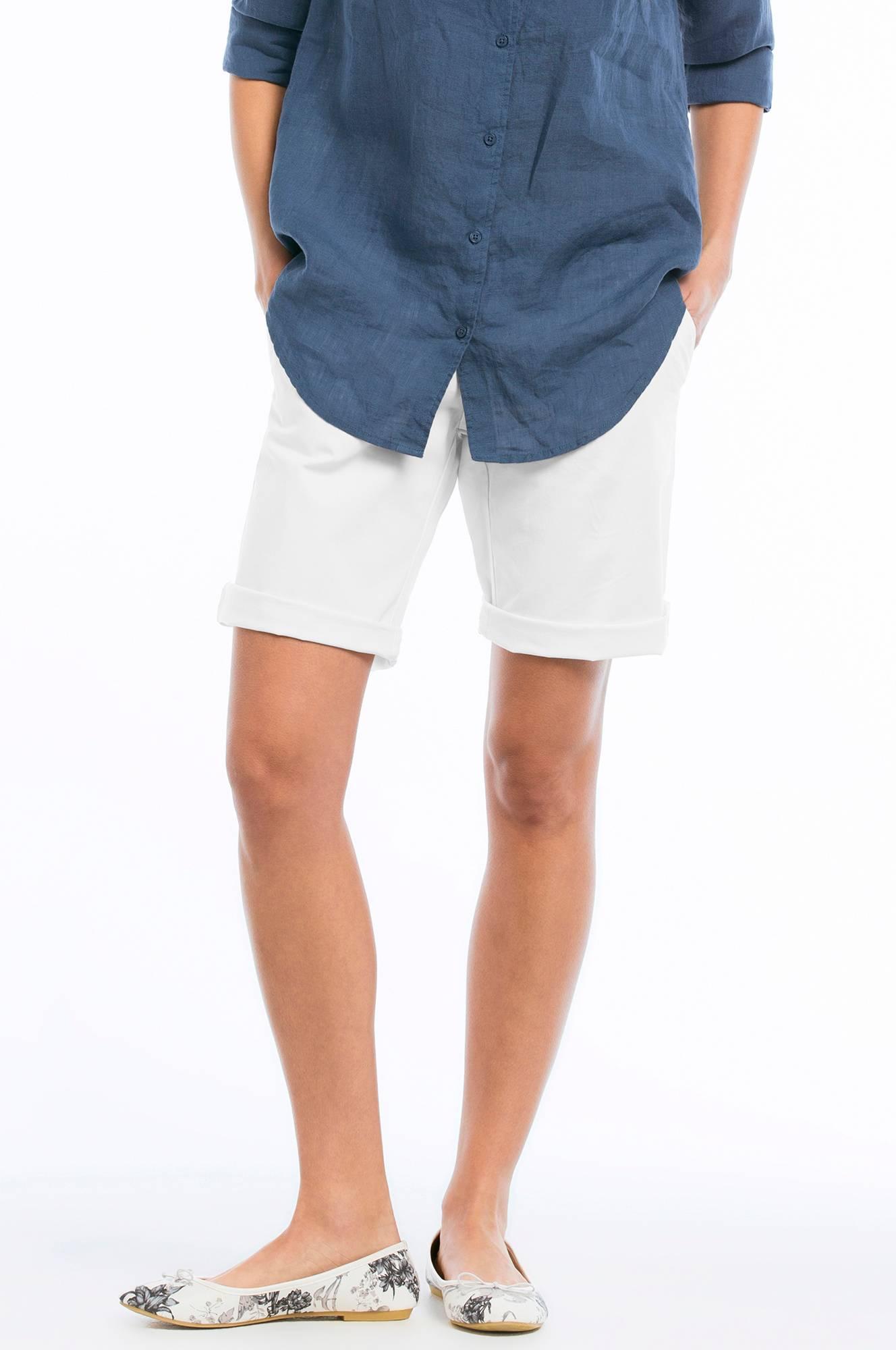 071d0b5c Ellos Collection Shorts i stretchtwill - Hvit - Dame - Ellos.no