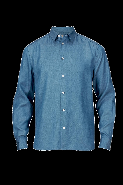 Skjorte Stone Tencell Whyred Skjorter til Mænd i Blå