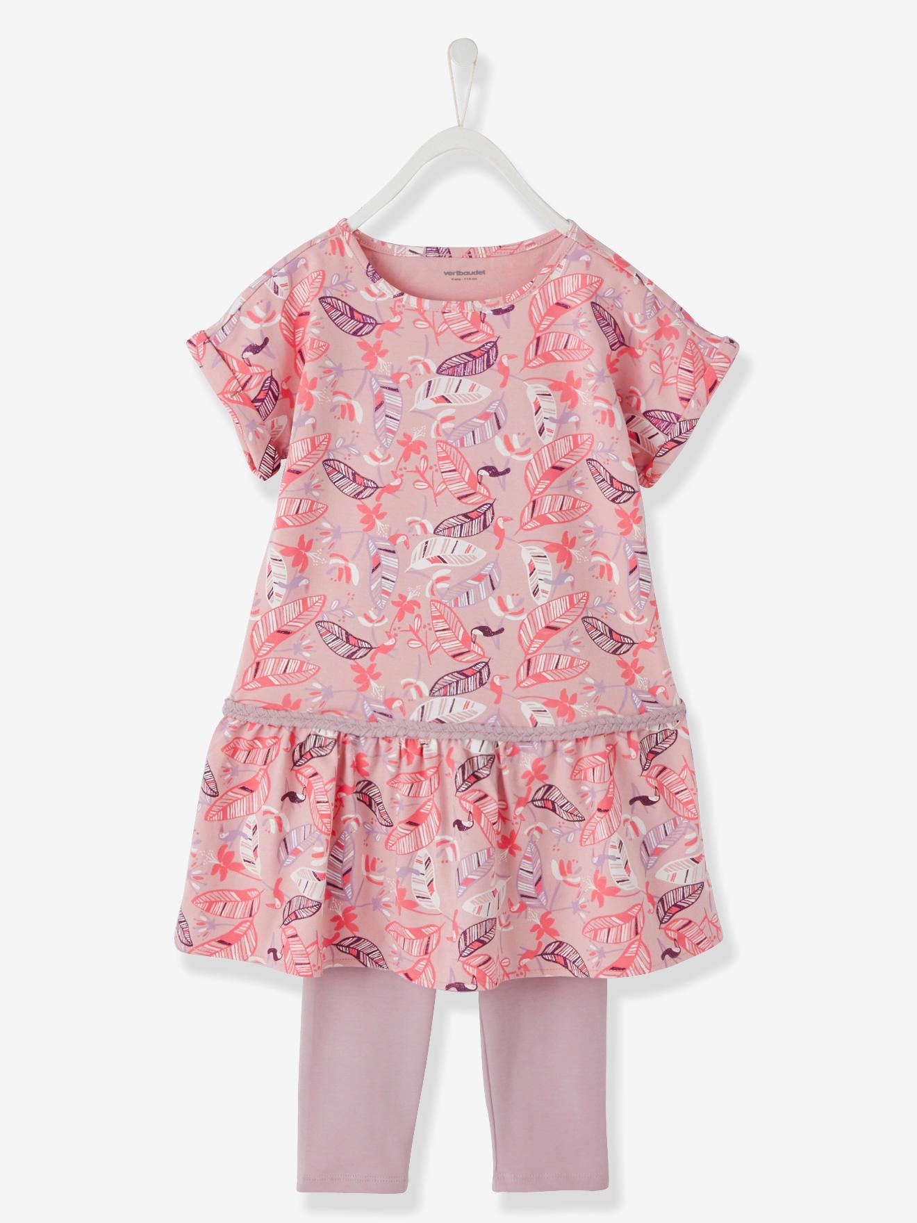 Tunika + leggings Vertbaudet Kjoler & nederdele til Børn i Rosa