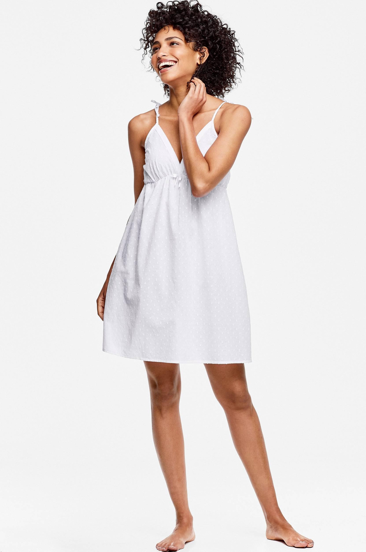 Natkjole med regulerbare skulderstropper Ellos Nat- & hjemmetøj til Kvinder i Hvid