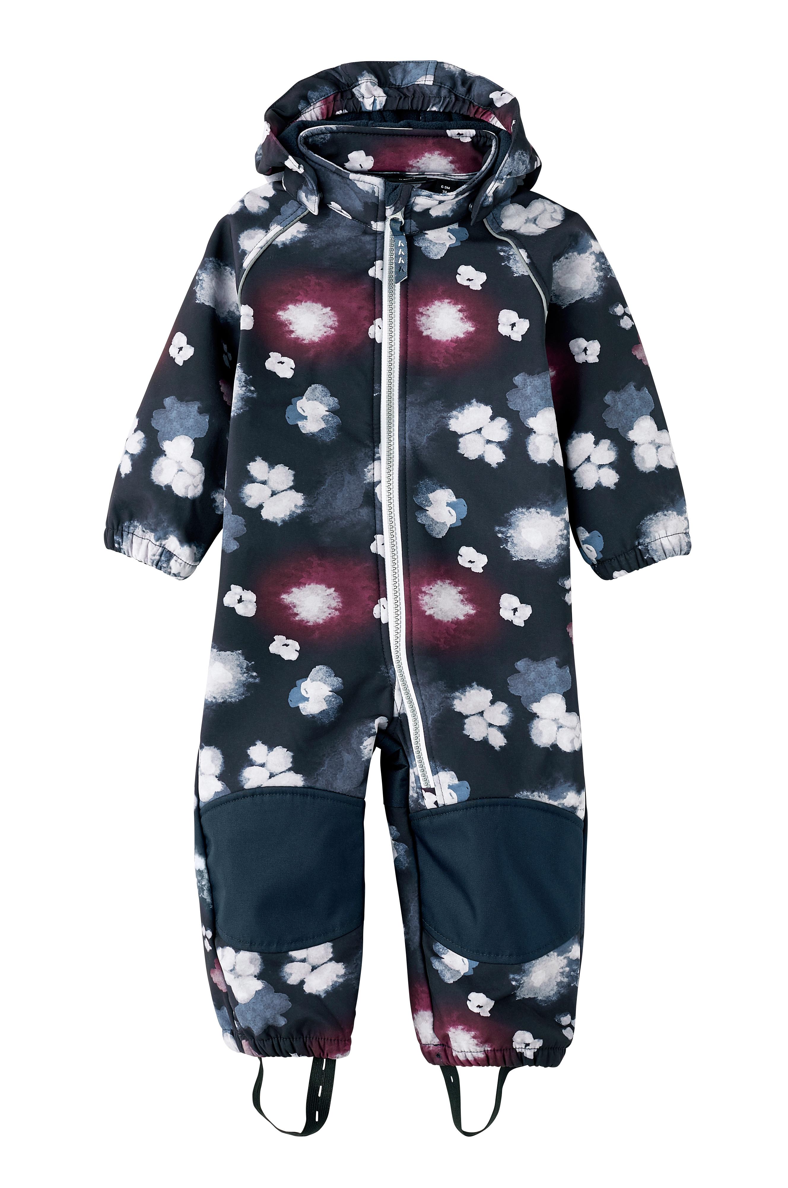 söpö halpa hyvin tiedossa valtava valikoima Name it mini NitAlfa Softshell Wholesuit Flower -haalari ...