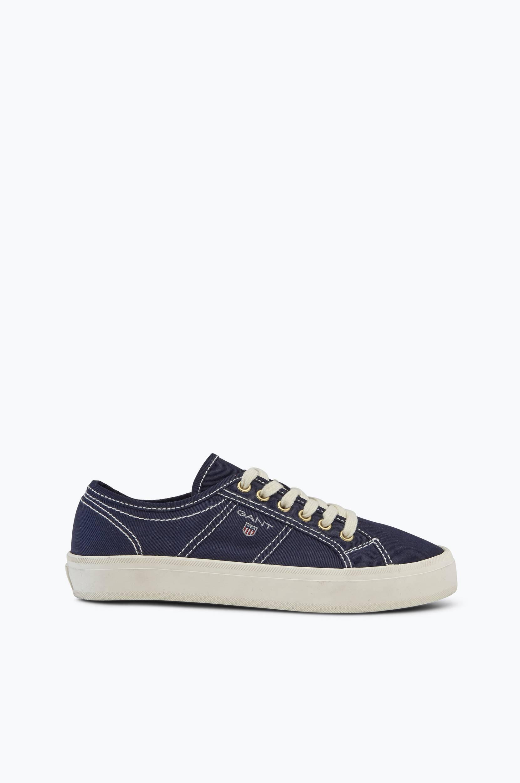 Sneakers Zoe af twill Gant Sneakers til Kvinder i Marineblå