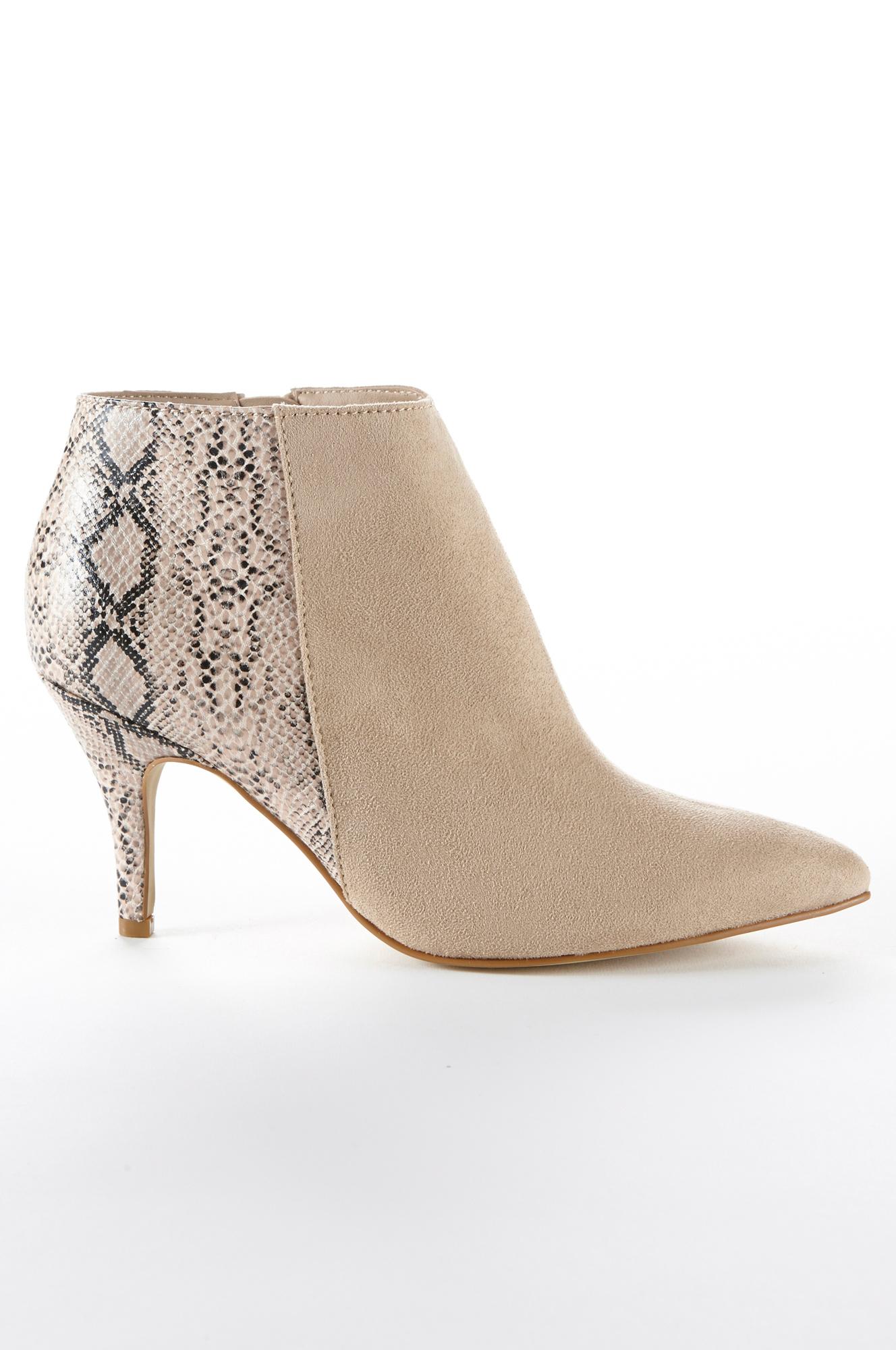 Boots med smal hæl Ellos Festsko & højhælede til Kvinder i Beige
