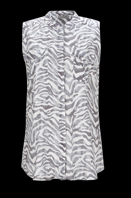 Bluse Meya Printed Hunkydory Skjorter & bluser til Kvinder i Mørkegråmønstret