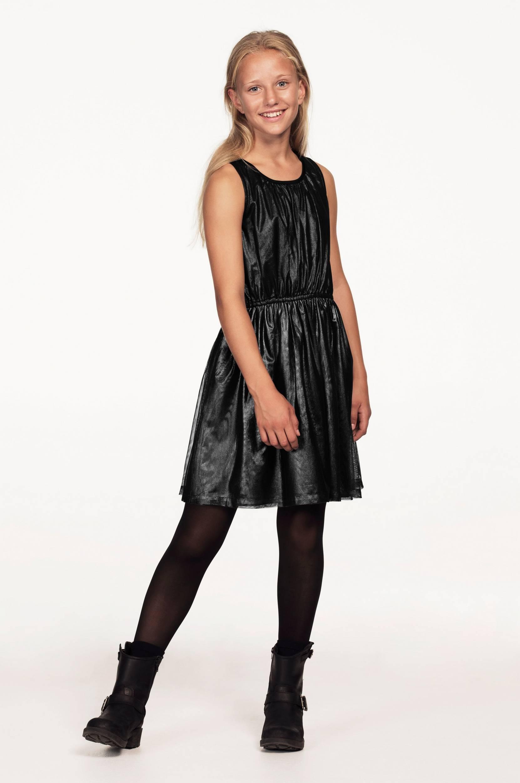Kjole i skinnende tyl Ellos Kjoler & nederdele til Børn i Sort