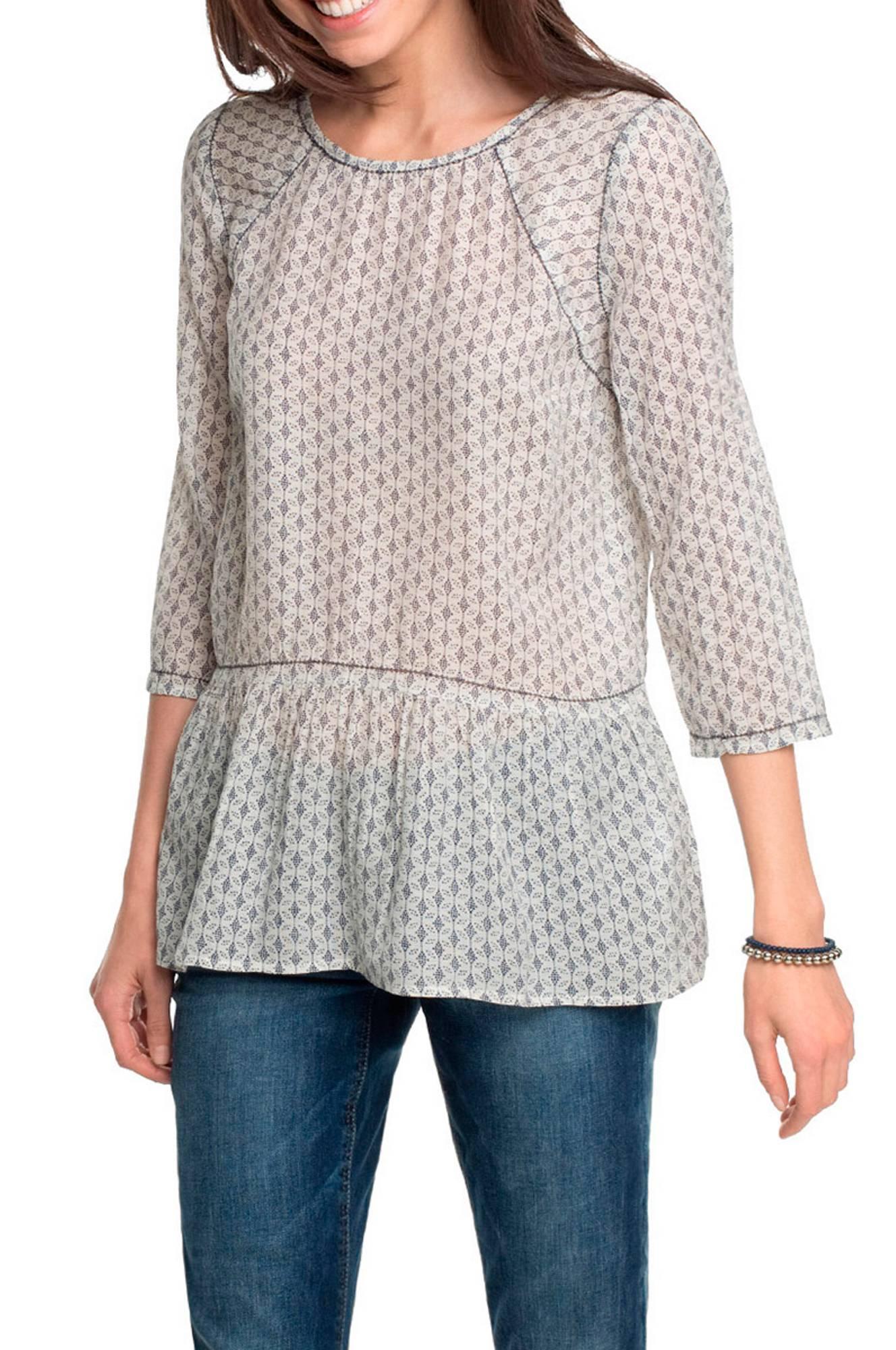 Bluse mønstret Esprit Skjorter & bluser til Kvinder i Hvid/blåmønstret