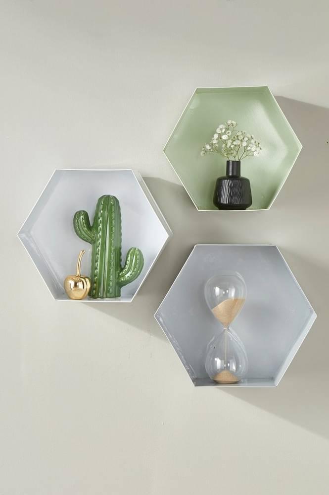 Vägghylla Hexagon 3-pack